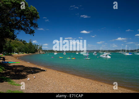 The waterfront town of Russell on the Bay of Islands, North Island, New Zealand. - Stock Photo