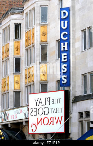 London, UK. 3rd September, 2014. 'The Play That Goes Wrong' at the Duchess Theatre, Catherine Street, London Credit: - Stock Photo