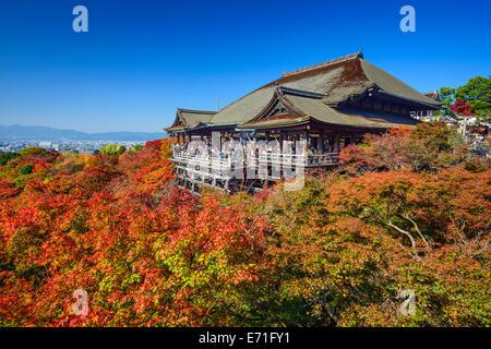 Kyoto, Japan at Kiyomizudera Temple in the autumn season. - Stock Photo