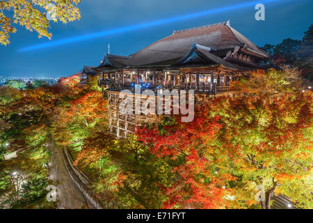 Kyoto, Japan at Kiyomizu-dera Temple in the autumn sesaon. - Stock Photo