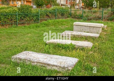 Old Jewish cemetery in Pristina - Stock Photo