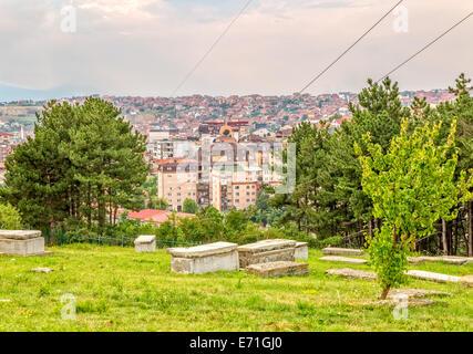 Jewish cemetery in Pristina - Stock Photo