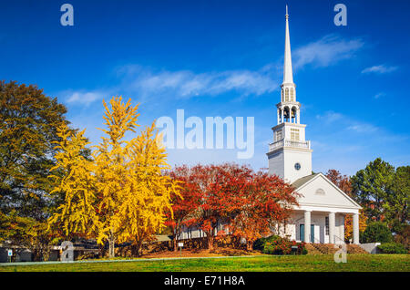 Traditional southern church in the autumn season. - Stock Photo