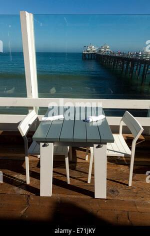 Malibu Pier Restaurant, Malibu, Los Angeles County, California, United States of America - Stock Photo