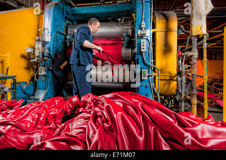 Rubber Components Manufacturing Plant - Stock Photo