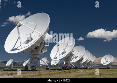 The VLA - Very Large Array - Radio Telescope in Socorro, New Mexico - Stock Photo