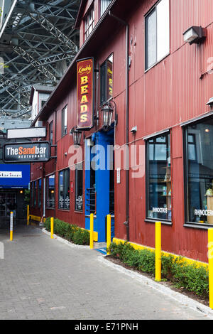 Early morning on Granville Island before  tourists and shoppers arrive, Vancouver - Stock Photo
