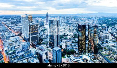 Skyscrapers with Trianon, Deutsche Bank, Sparkasse and FBC, Frankfurt Office Centre, buildings, Westend, Frankfurt - Stock Photo