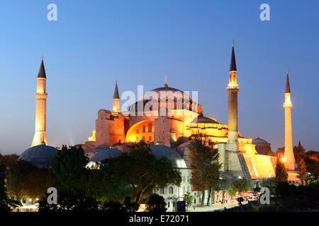 Hagia Sophia, Ayasofya, UNESCO World Heritage Site, European side, Istanbul, Turkey - Stock Photo