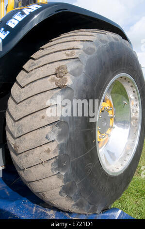 tractor puller pulling tires tyres wheels large big cut rubber grip stock photo 73138703 alamy. Black Bedroom Furniture Sets. Home Design Ideas