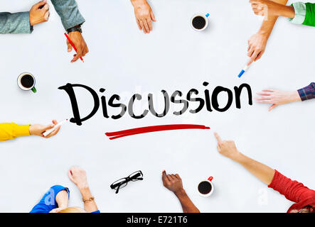 Multi-Ethnic Group of People and Discussion Concept - Stock Photo