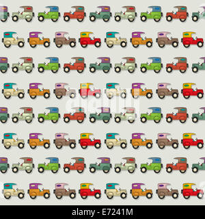 Seamless wallpaper pattern with cartoon cars