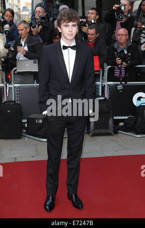 London, UK. 2nd Sep, 2014. Freddie Highmore attends the GQ Men of the Year awards at The Royal Opera House on September - Stock Photo