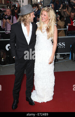 London, UK. 2nd Sep, 2014. Ellie Goulding and Dougie Poynter attend the GQ Men of the Year awards at The Royal Opera - Stock Photo