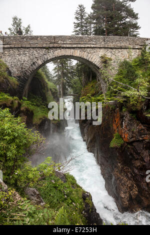 Le Pont d'Espagne (Spanish Bridge) Near Cauterets in the French Pyrenees France - Stock Photo