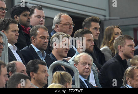 Duesseldorf, Germany. 03rd Sep, 2014. The manager of Germany's national soccer squad Oliver Bierhoff (L-R), sport - Stock Photo