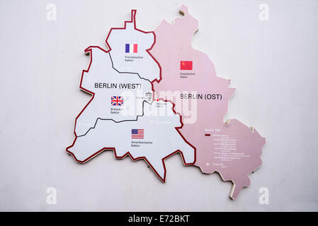 Germany Political Map With Capital Berlin National Borders Most - Map of divided berlin