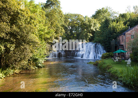 Rutter Force waterfall on the Hoff Beck south of Appleby in Westmorland, Cumbria UK - Stock Photo