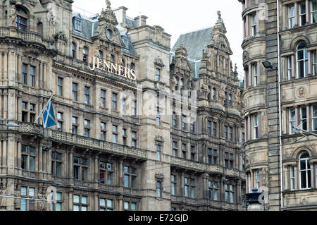 Exterior of Jenners department store on South St David Street / Princes Street, Edinburgh - Stock Photo