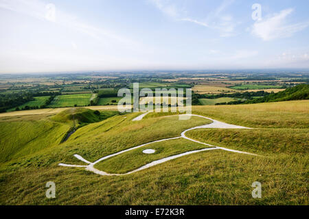 Uffington White Horse, Oxfordshire, England, UK. - Stock Photo