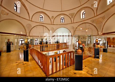 The Museum of Traditional Greek Ceramics, in Tzistarakis mosque, Monastiraki square, Athens, Greece. - Stock Photo