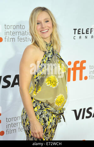 Toronto, Ontario, Canada. 4th Sep, 2014. Actress KRISTEN BELL attends 'The Judge' premiere during the 2014 Toronto - Stock Photo