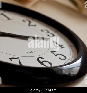 Wall clock face,  close-up - Stock Photo
