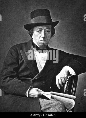 Benjamin Disraeli, 1st Earl of Beaconsfield, KG, PC, FRS, (21 December 1804 – 19 April 1881) was a British Prime - Stock Photo