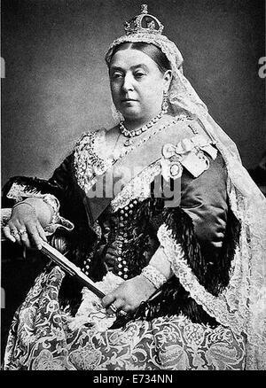 Diamond Jubilee portrait of Queen Victoria . News Photo