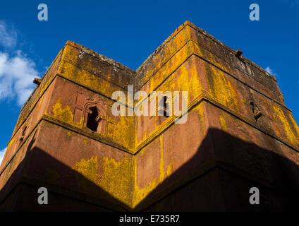 Monolithic Rock-cut Church Of Bete Giyorgis, Lalibela, Ethiopia - Stock Photo