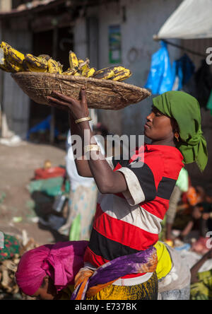 The Market In The Old Town, Harar, Ethiopia - Stock Photo