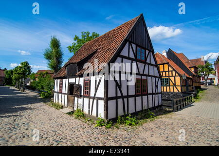 The Old Town, Den Gamle By, open air museum in Aarhus, Denmark, Scandinavia, Europe - Stock Photo