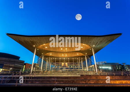 Welsh Assembly (Senedd), Cardiff Bay, Wales, United Kingdom, Europe - Stock Photo