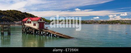 Mumbles Pier, Gower, Swansea, Wales, United Kingdom, Europe - Stock Photo