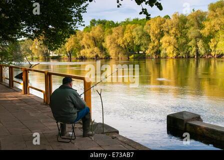 Emajogi River, Tartu, Estonia, Baltic States, Europe - Stock Photo