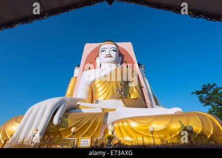 Gautama Buddha, Four Faces paya, Kyaik Pun Paya, Bago, Myanmar (Burma), Asia - Stock Photo