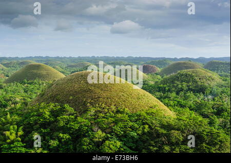 Chocolate Hills, Bohol, Philippines, Southeast Asia, Asia - Stock Photo