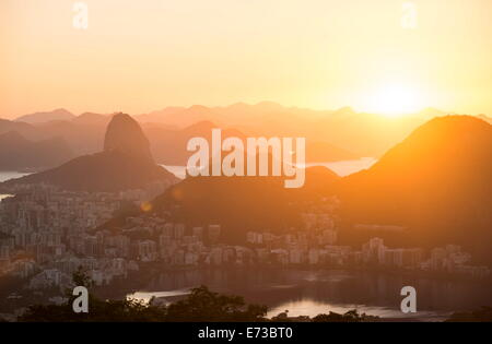 View from Chinese Vista at dawn, Rio de Janeiro, Brazil, South America - Stock Photo