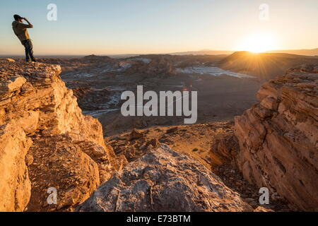 Valle de la Luna (Valley of the Moon), Atacama Desert, El Norte Grande, Chile, South America - Stock Photo
