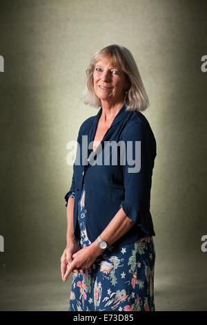 Lucy Angela Hughes-Hallett , author, cultural historian and biographer at the Edinburgh International Book Festival - Stock Photo
