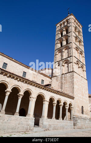 Spain, Castille Leon, Segovia, San Esteban Church. - Stock Photo