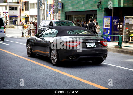 Maserati car on the street. Omote-sando, Harajuku area, Tokyo, Japan, Asia - Stock Photo