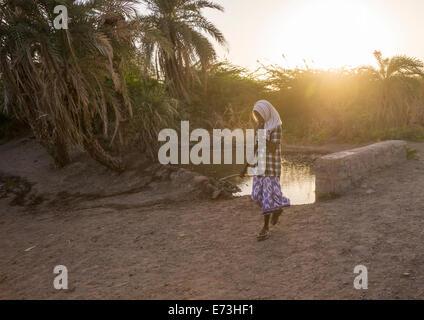 Afar Tribe Man In The Sunset, Afambo, Ethiopia - Stock Photo
