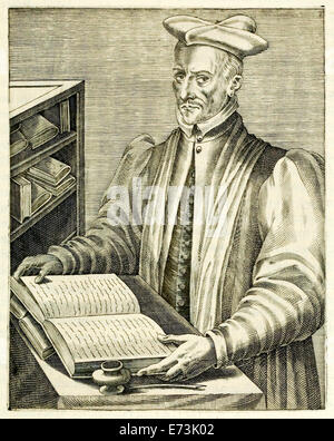 "Jacques de Billy de Prunay (1535-1581) from ""True Portraits…"" by André Thévet published in 1584. See description - Stock Photo"