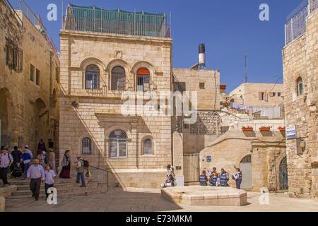 Jerusalem - Street scene in old town of Jerusalem.Israel - Stock Photo