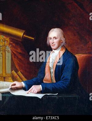 David Rittenhouse - by Charles Willson Peale, 1796 - Stock Photo