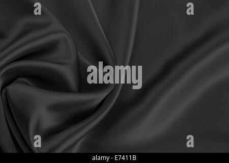 black satin or silk background - Stock Photo