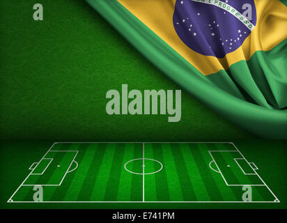 Soccer world cup in Brazil concept - Stock Photo