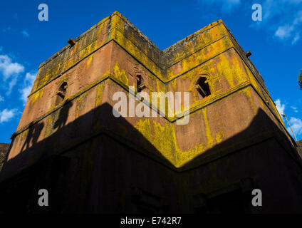 Monolithic Rock-cut Church Of Bete Giyorgis, Lalibela, Ethiopia - Stock Photo