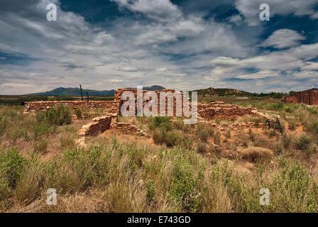 Anasazi (Ancestral Puebloans) pueblo ruins at Edge of the Cedars Museum and State Park, Blanding, Utah, USA - Stock Photo